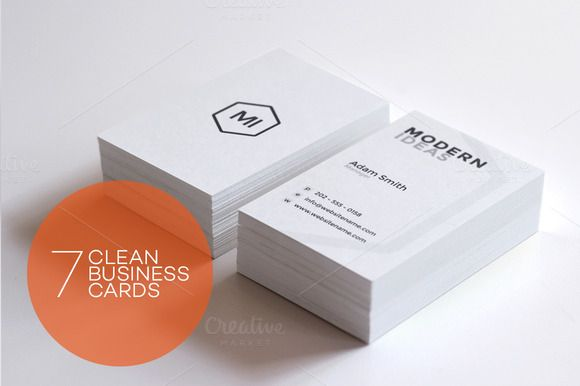 Check Out Clean Minimal Business Cards By Arslan On Creative - Simple business card templates