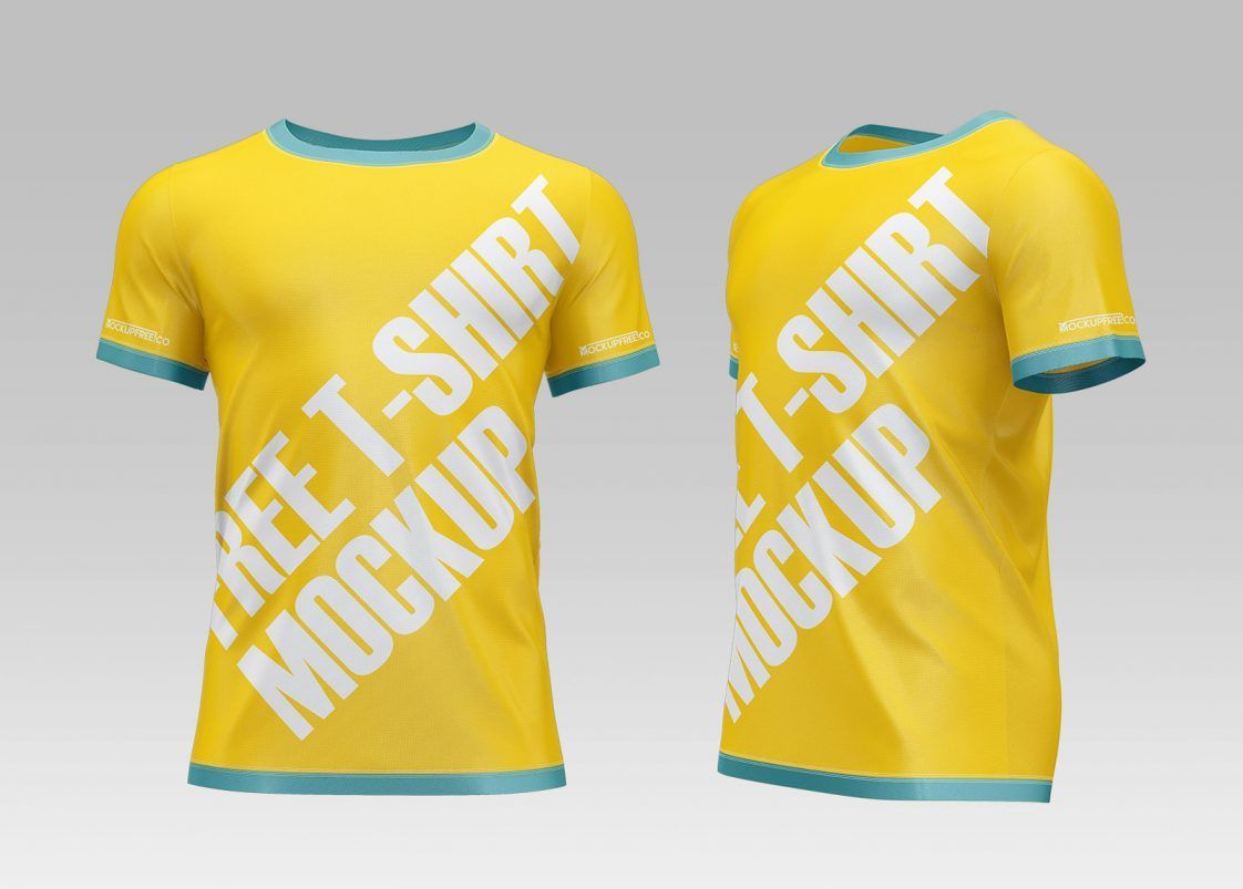 Download Free New Round Neck Jersey Mockup Psd Set Psfiles Clothing Mockup Mockup Psd Mockup