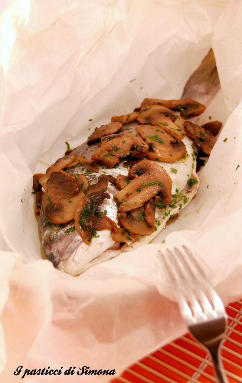 Ricetta pesce con funghi champignon