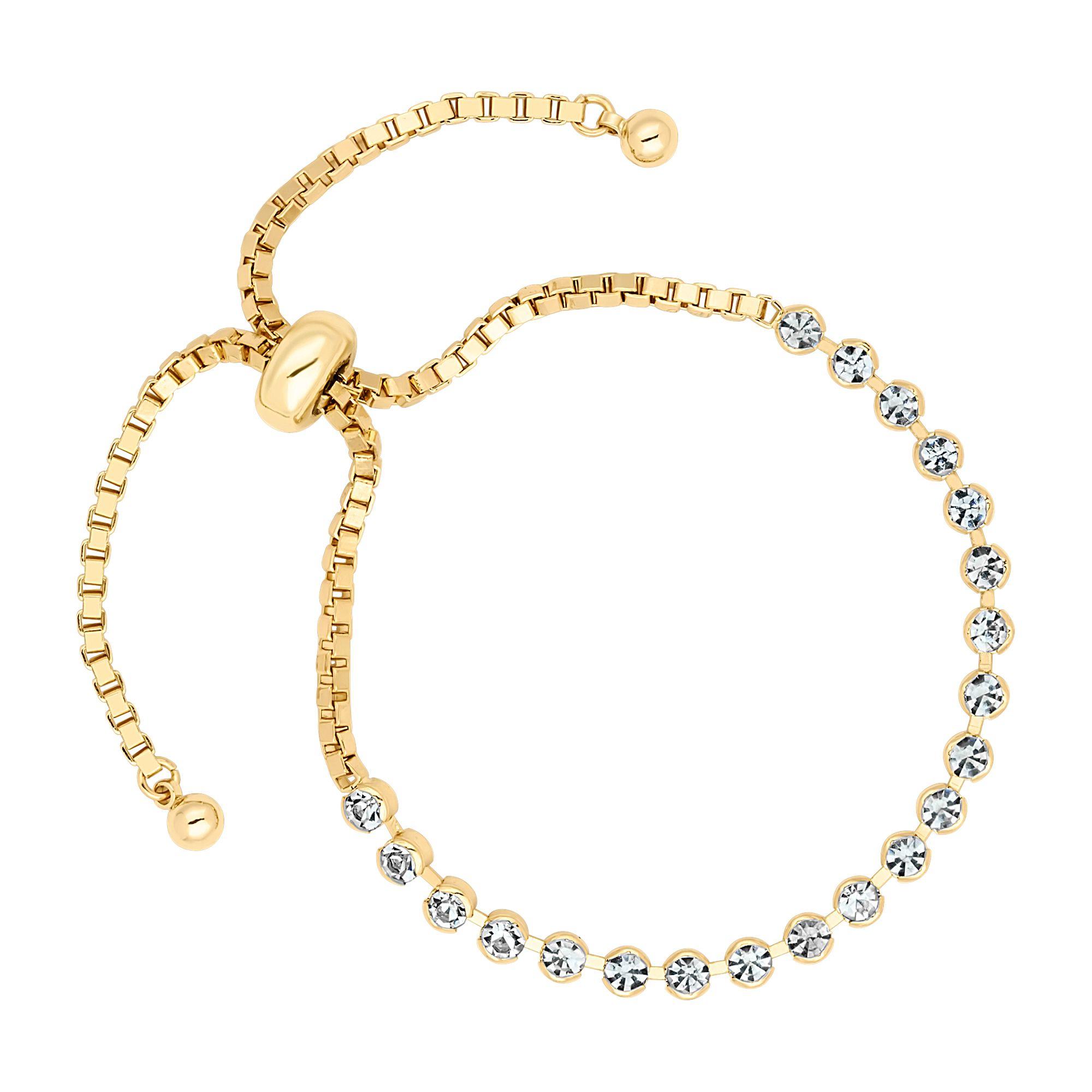Jon richard adjustable crystal tennis bracelet bracelets