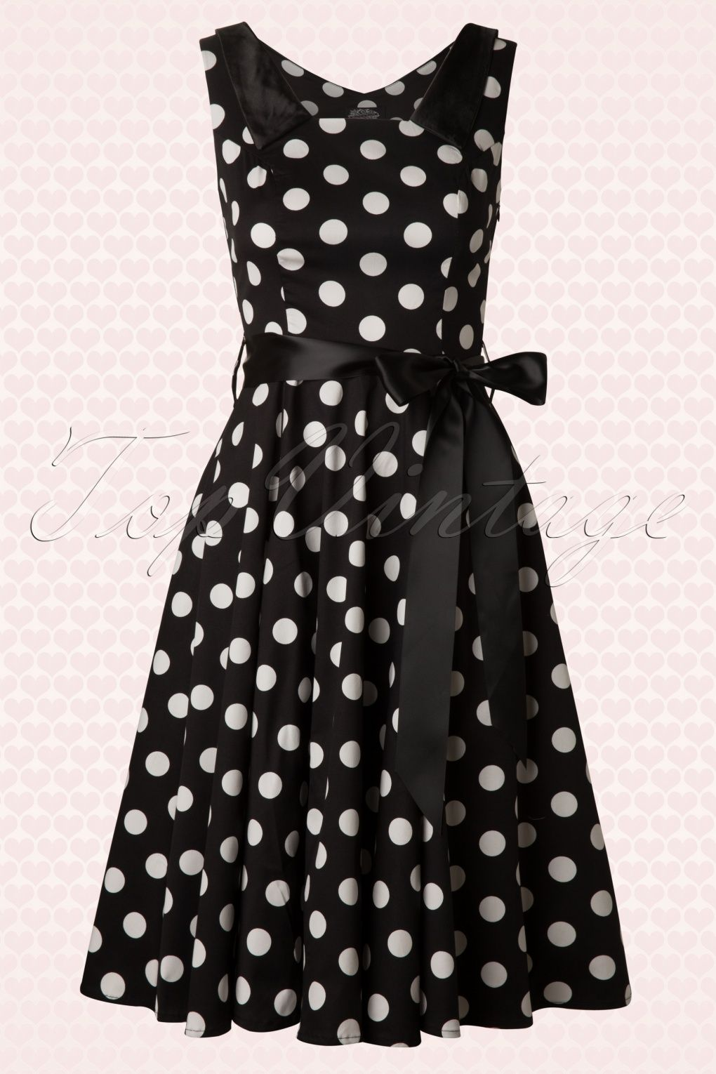 59b3ca345d31b 50s Big Dot Swing Dress in Black And White in 2019 | Dream Dress ...