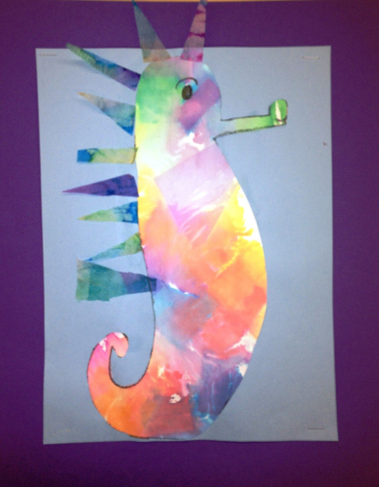 For the Love of Art: 2nd Grade: Mr. Seahorse Inspired