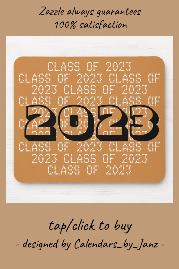 Class Of 2023 Gold Mousepad By Janz Zazzle Com In 2020 Custom Graduation Gift Graduation Pictures Graduation Day