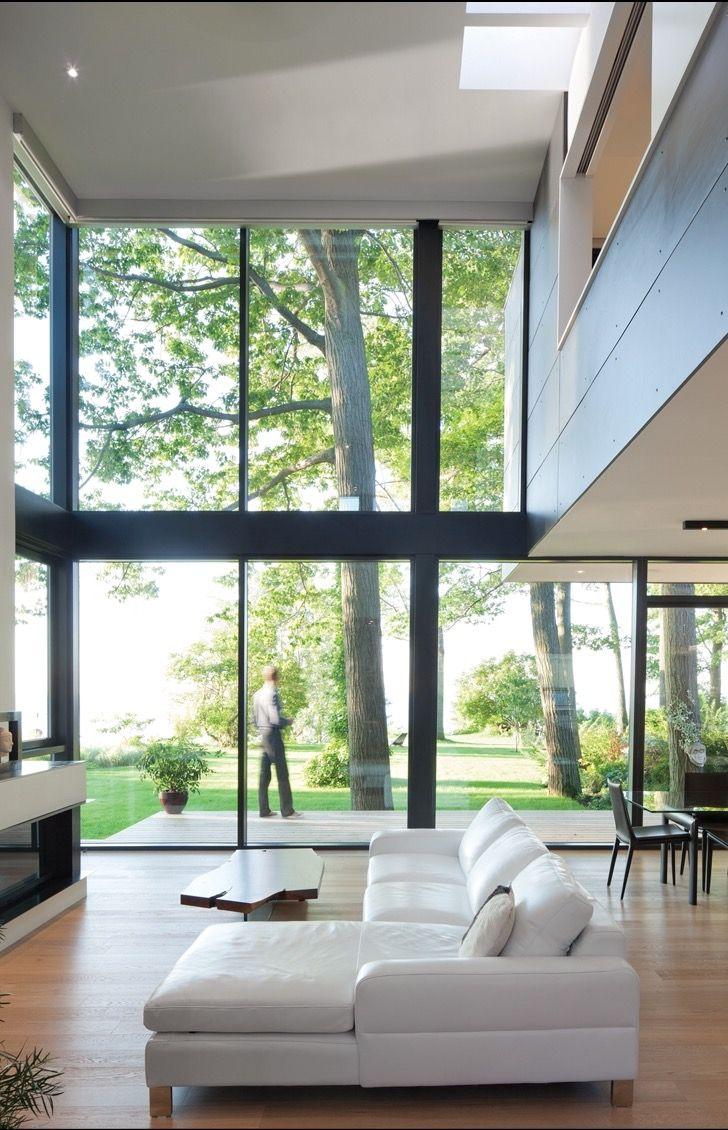 Home treppen design-ideen floor to ceiling windows  haus  stahl  treppe technik
