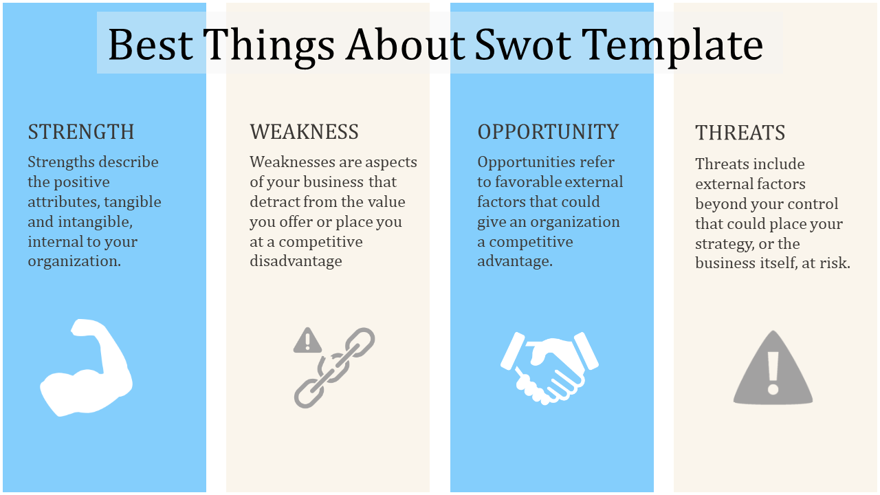 Cool Swot Template Download Swot Analysis Template Templates Best Powerpoint Presentations