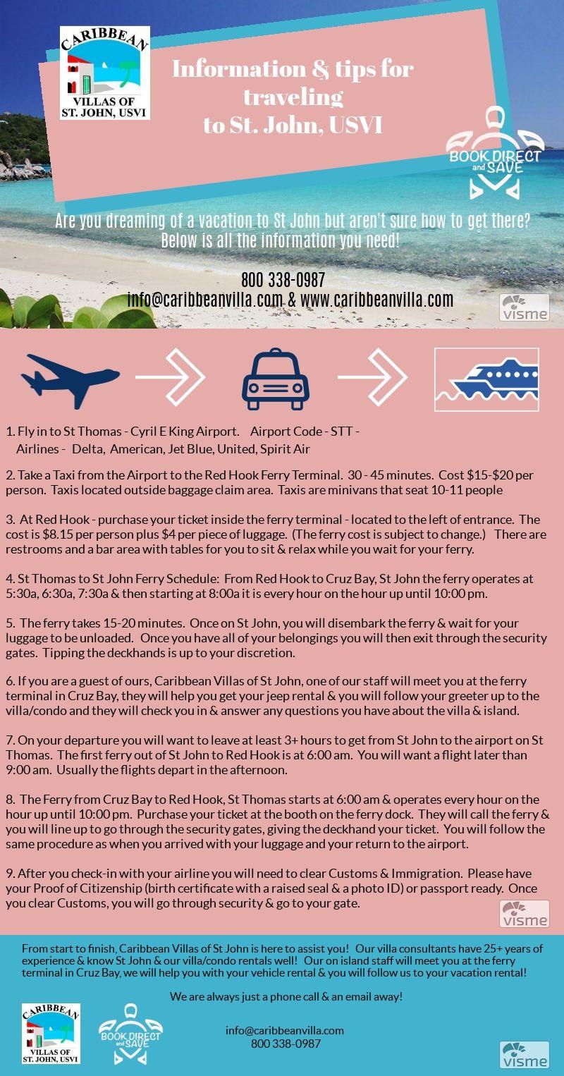 St John Travel Tips www caribbeanvilla com 800 338-0987