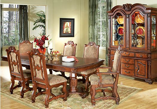 shop for a carpathian pedestal 7 pc dining room at rooms to go