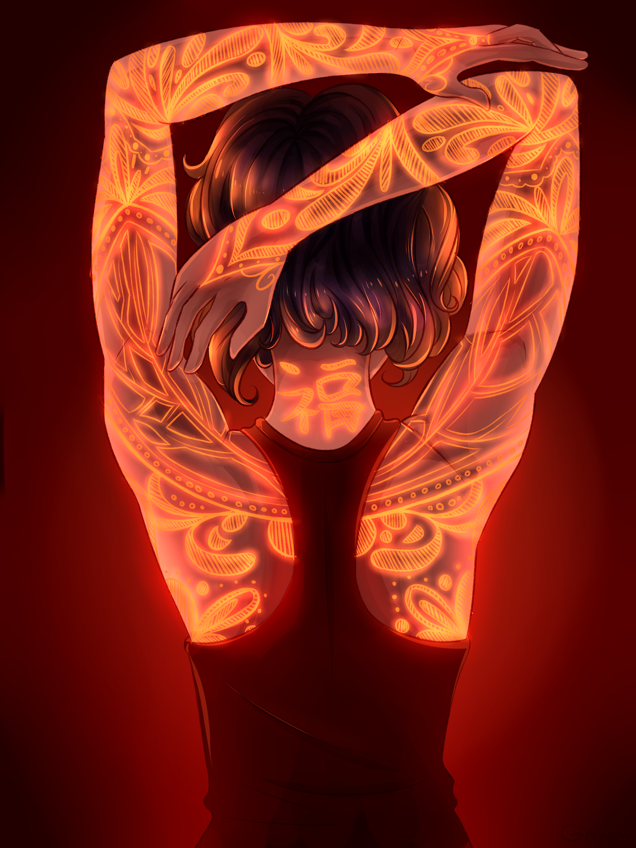 Here have some glowy tattoos that deprived me of six precious hours of sleep Speedpaint: (x)