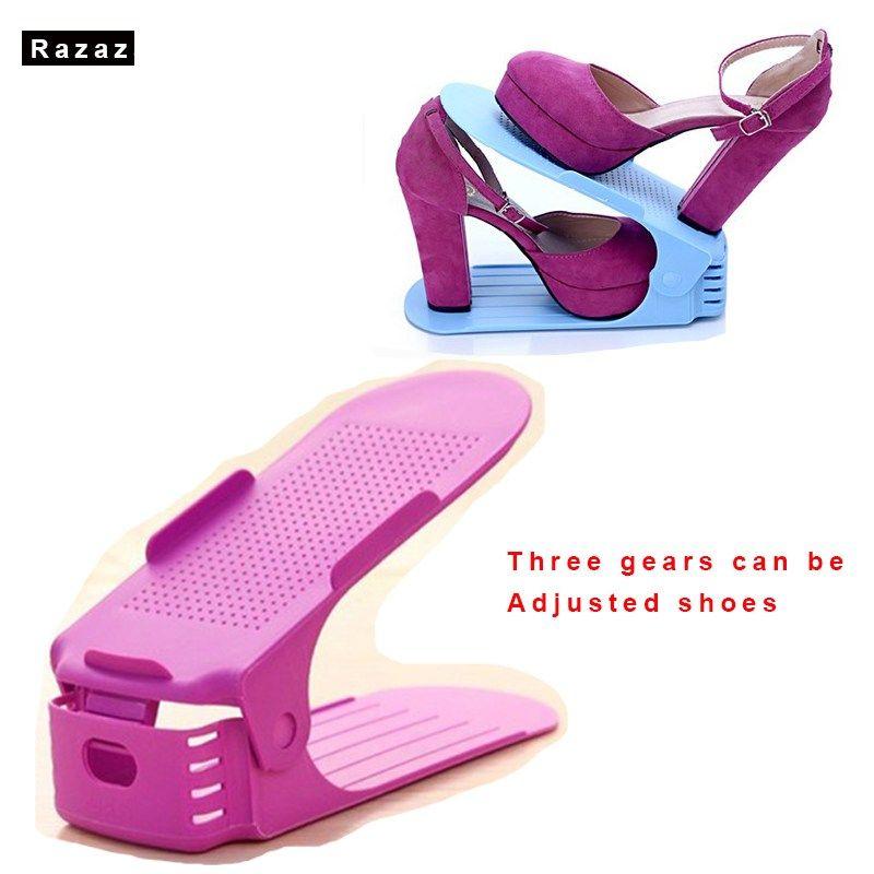 Promo offer US $5.84 Shoe Storage Racks Boxes Adjustable Thick ...