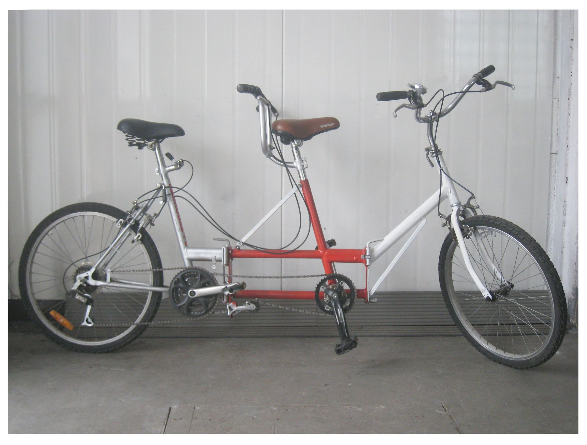 My Folding Type Z Tandem Made Of Two Old Bikes Works Well