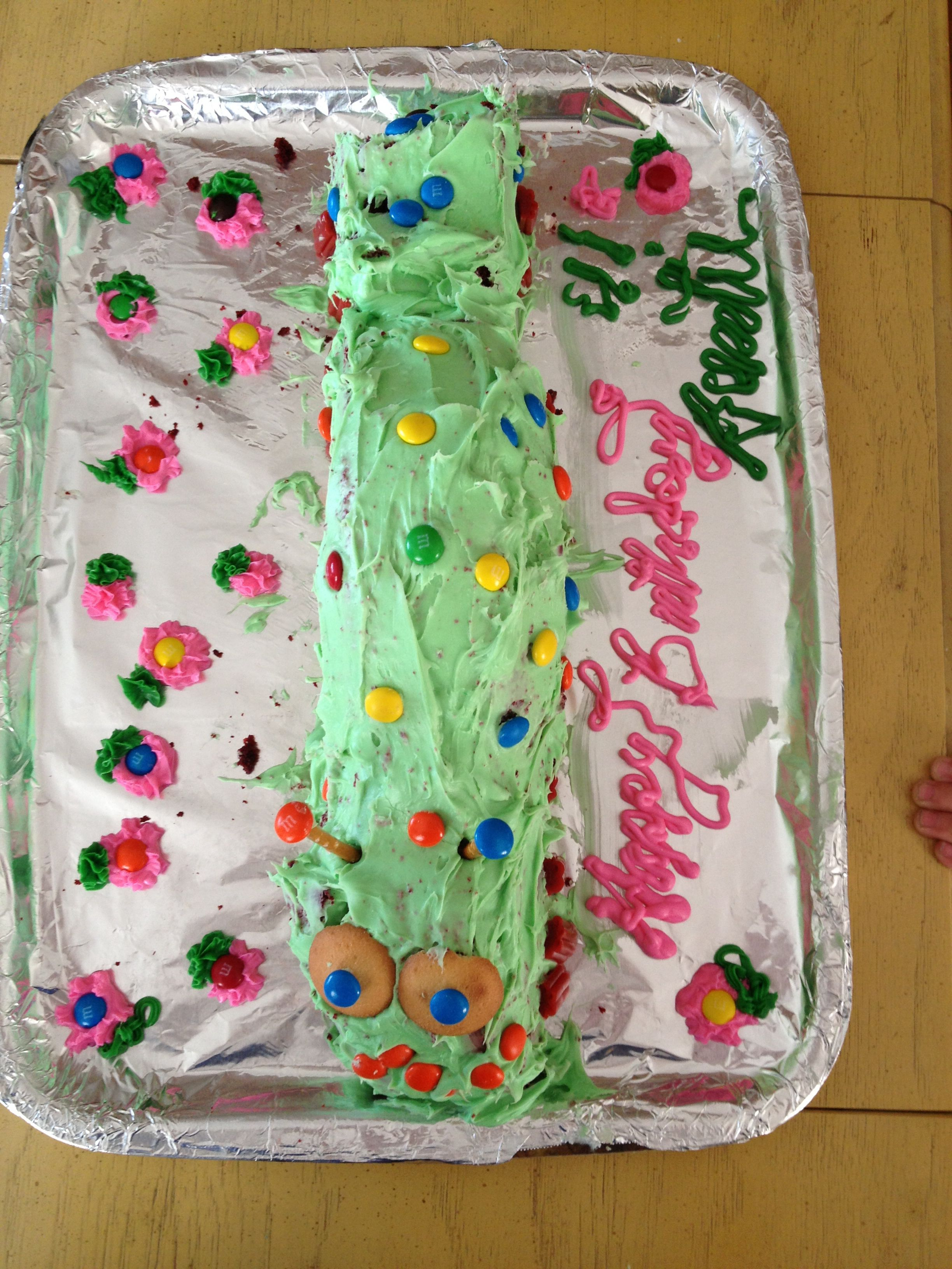 Inch worm cake!