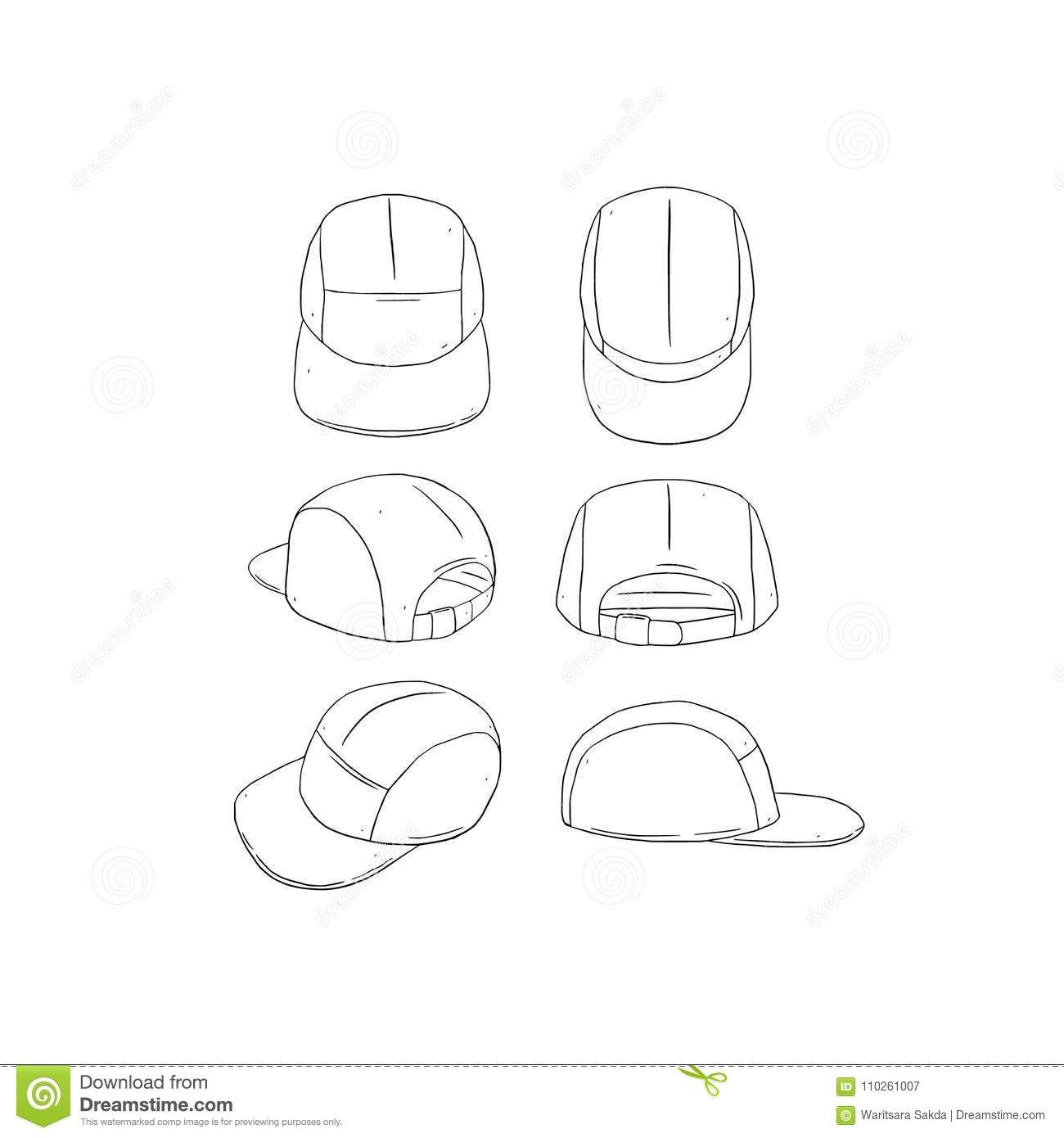 The amazing Hand Drawn Vector Illustration Of Blank 5