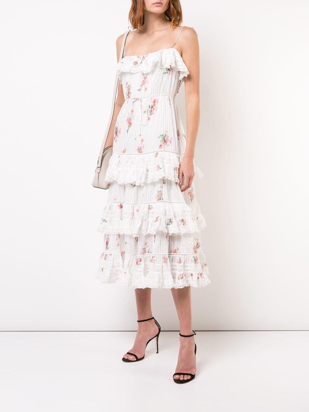 Zimmermann ruffled floral dress $995 - Shop SS19 Online ...