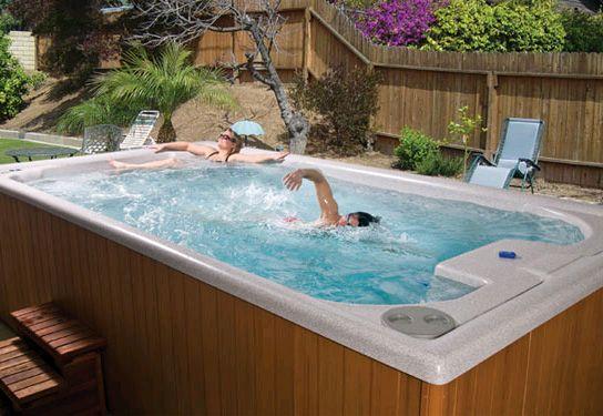 Spa You Can Swim In Swimming Hot Tub Cool Hot Tub Spa Photo Gallery Poolandspa Com Endless Pool Spa Endless Pool Swim Spa