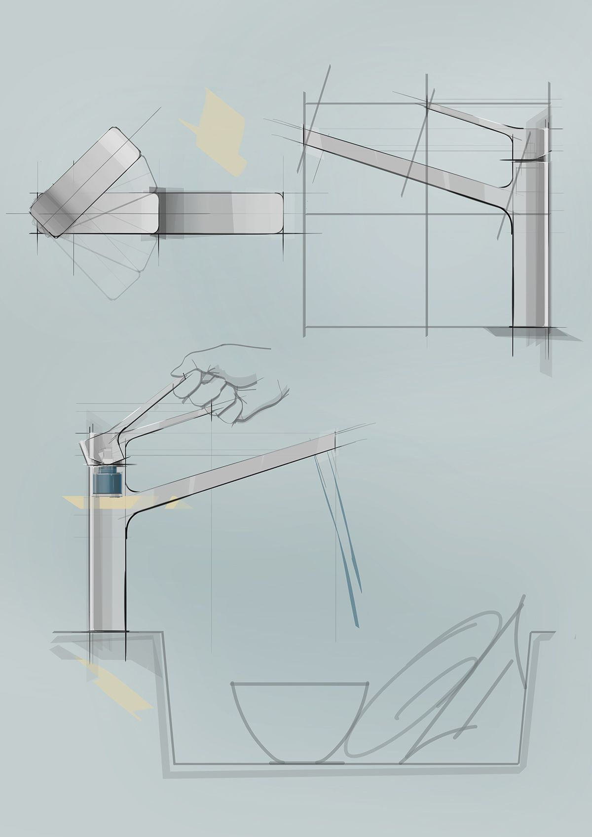 Kitchen Faucet Design Proposal on Behance | Industrial Design ...