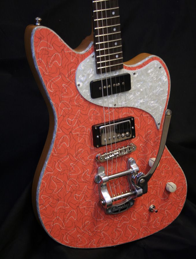 Kauer Daylighter A Modern Guitar With The Cool Retro Formica