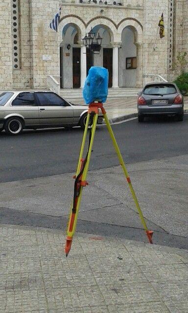 Surveying without umbrella...