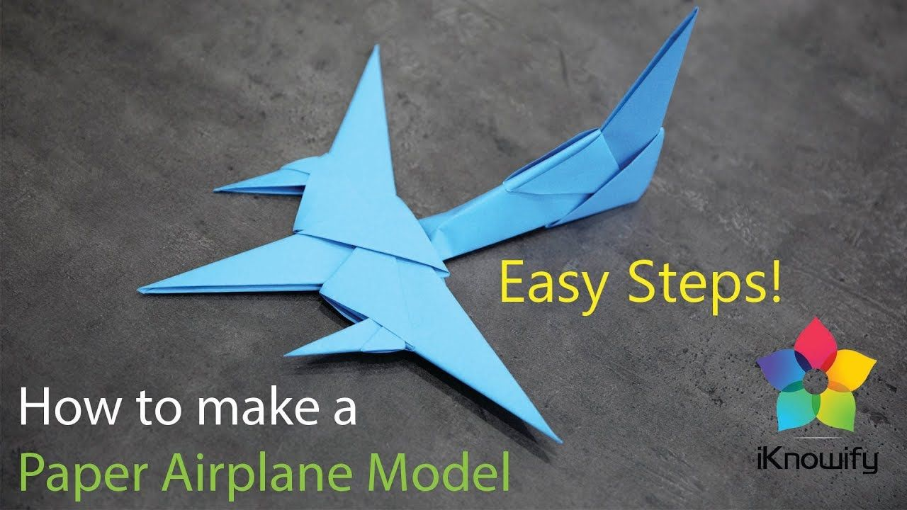 How To Make A Paper Airplane 3d Model Paper Aeroplane Origami