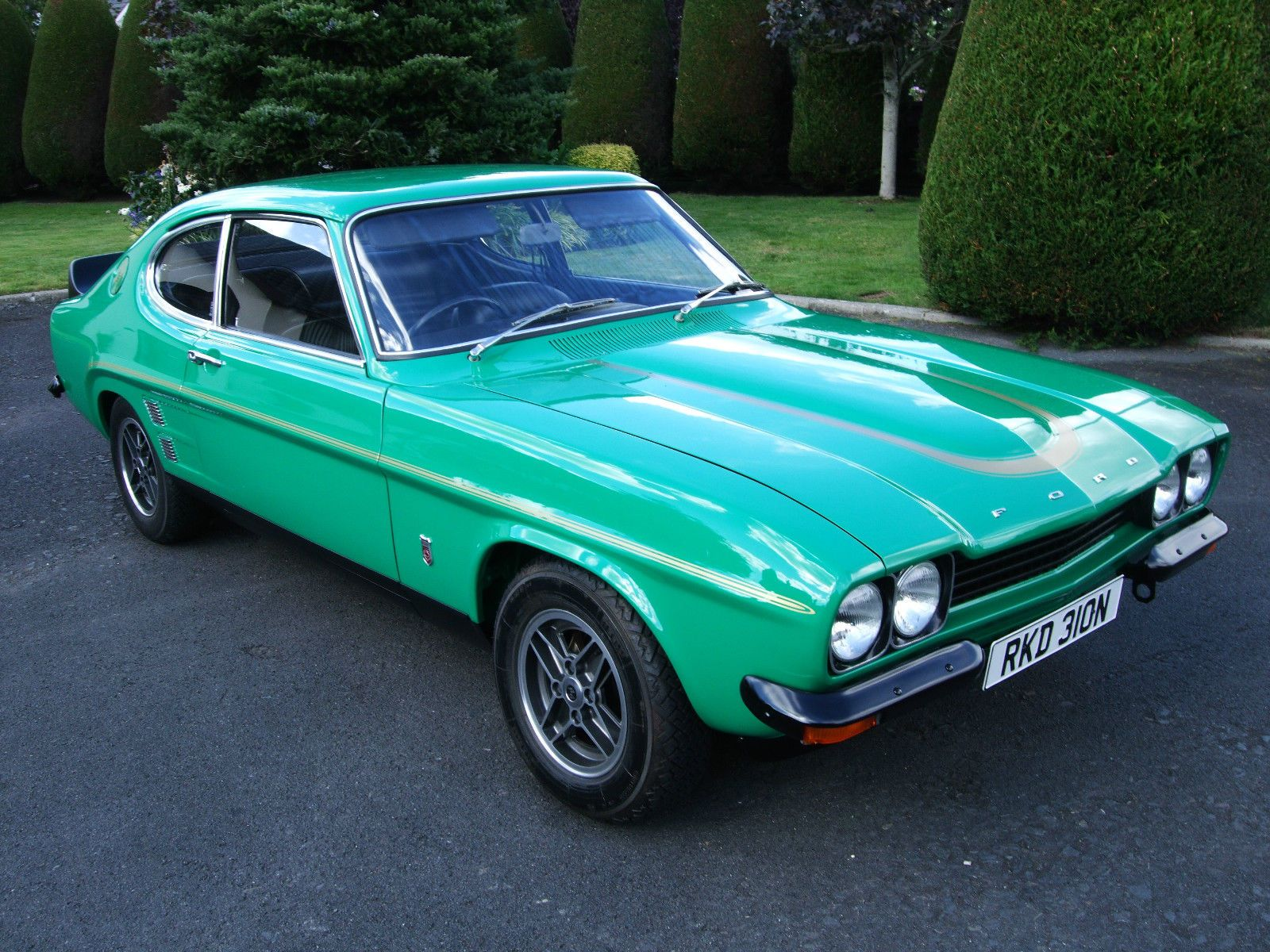 genuine 1974 ford capri rs 3100 modena green in rare concourse condition cars ford capri. Black Bedroom Furniture Sets. Home Design Ideas