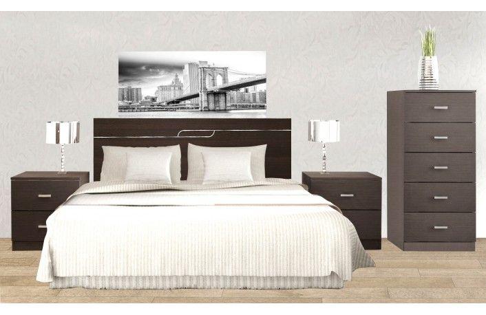 Cabecero De Cama Con Dos Mesillas Estilo Minimalista | Dormitorio ...
