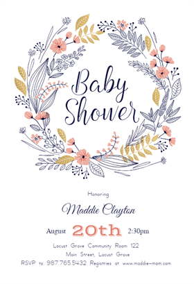 Delicate image throughout baby shower templates printable