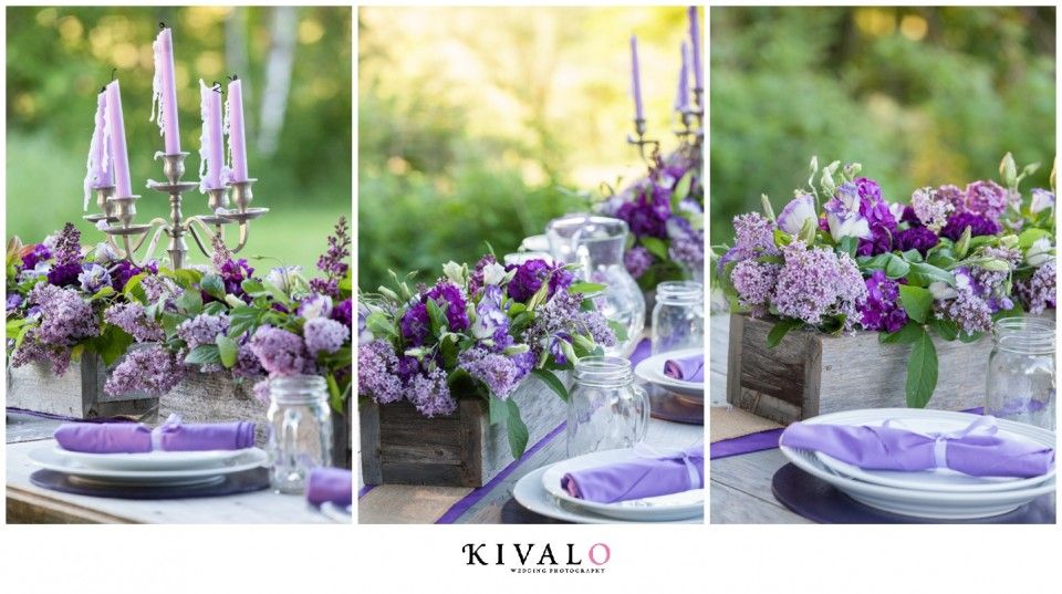 Lilac Rustic Wedding Centerpieces Wedding Details Rustic Wedding