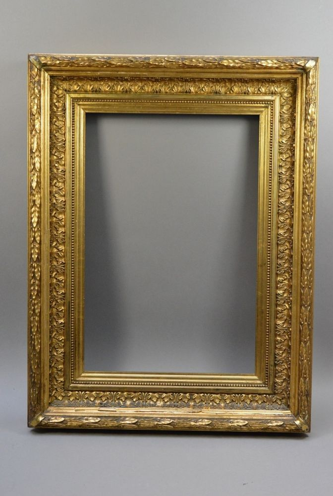 Jugendstil Bilderrahmen Prunkrahmen mit Palmettendekor & Goldfassung ...