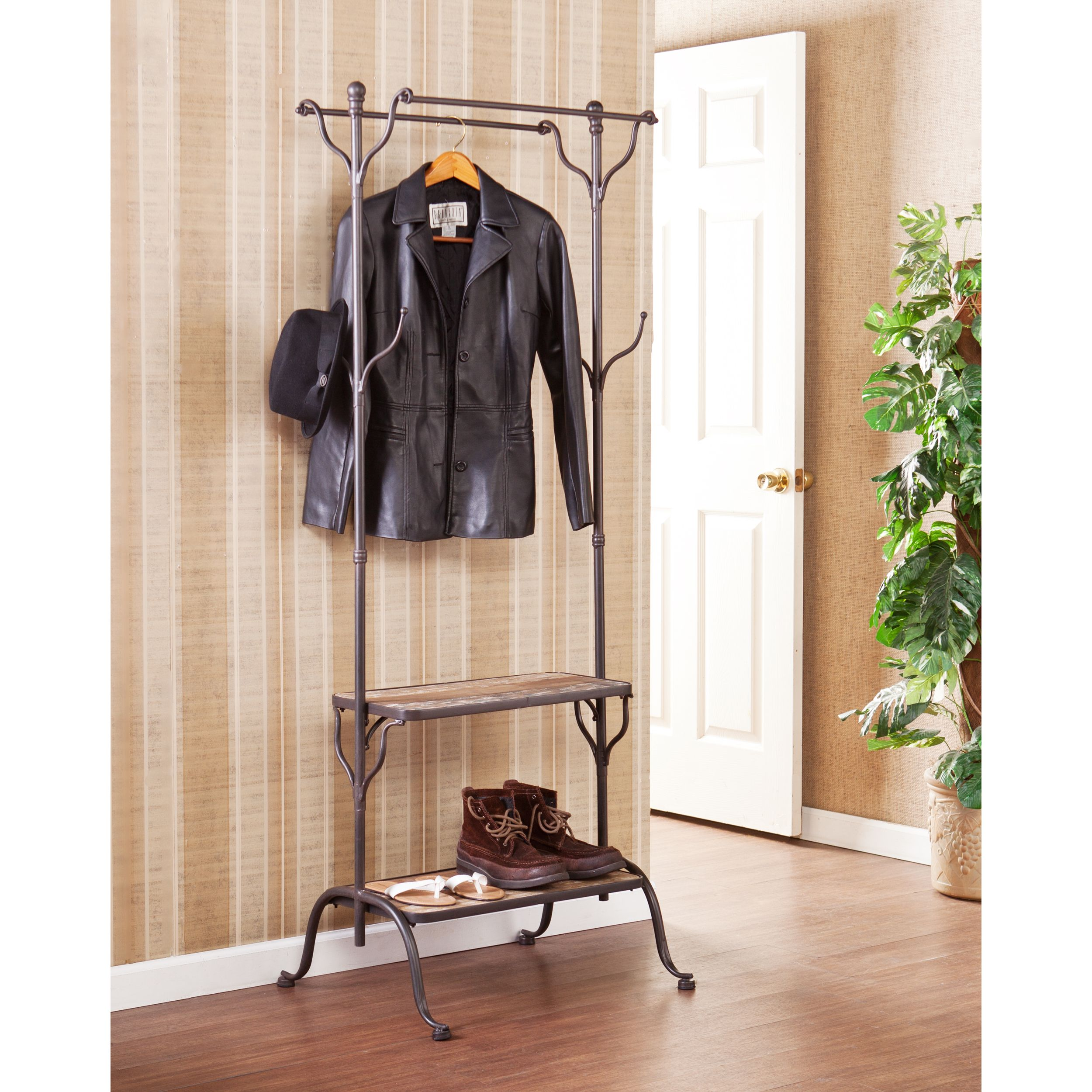 The Rustic Upton Home Ashbury Entryway Shelf Hall Coat Rack