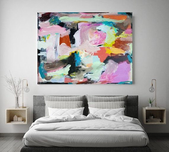 Large Abstract Painting, Oversized Painting, Large Wall Art ...