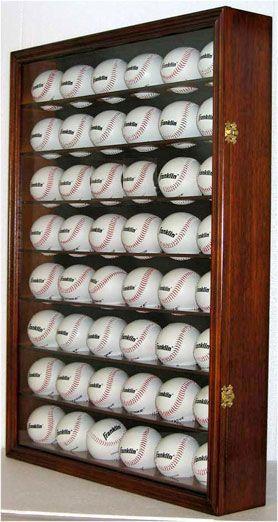 48 MLB Baseball Display Case w/ UV Protection Acrylic Door ...