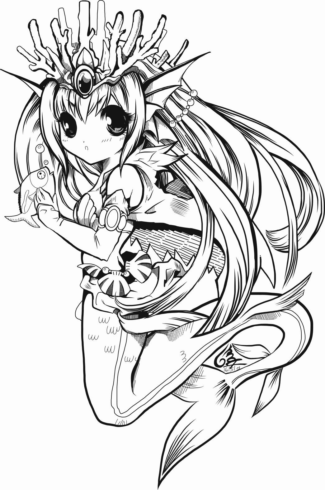Anime Mermaid Coloring Pages For Kids Mermaid Coloring Pages Mermaid Coloring Book Mermaid Coloring