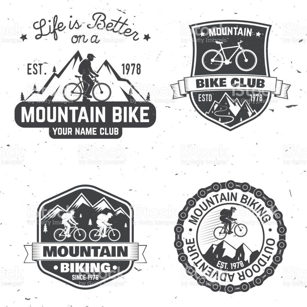 Set Of Mountain Biking Clubs Vector Illustration Concept For Head Bike Logo Mountain Biking Mountain Bike Art