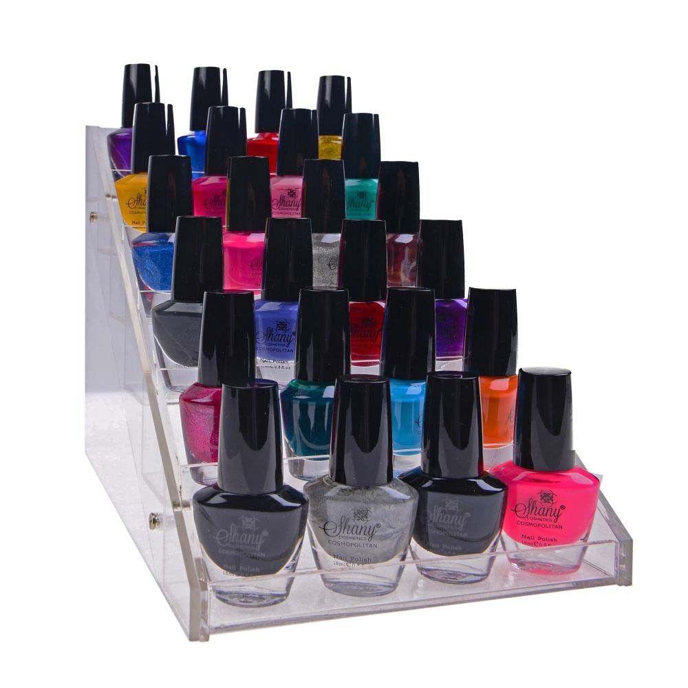 Vertical Nail Polish Holder - Makeup Cosmetics Table Rack Display ...