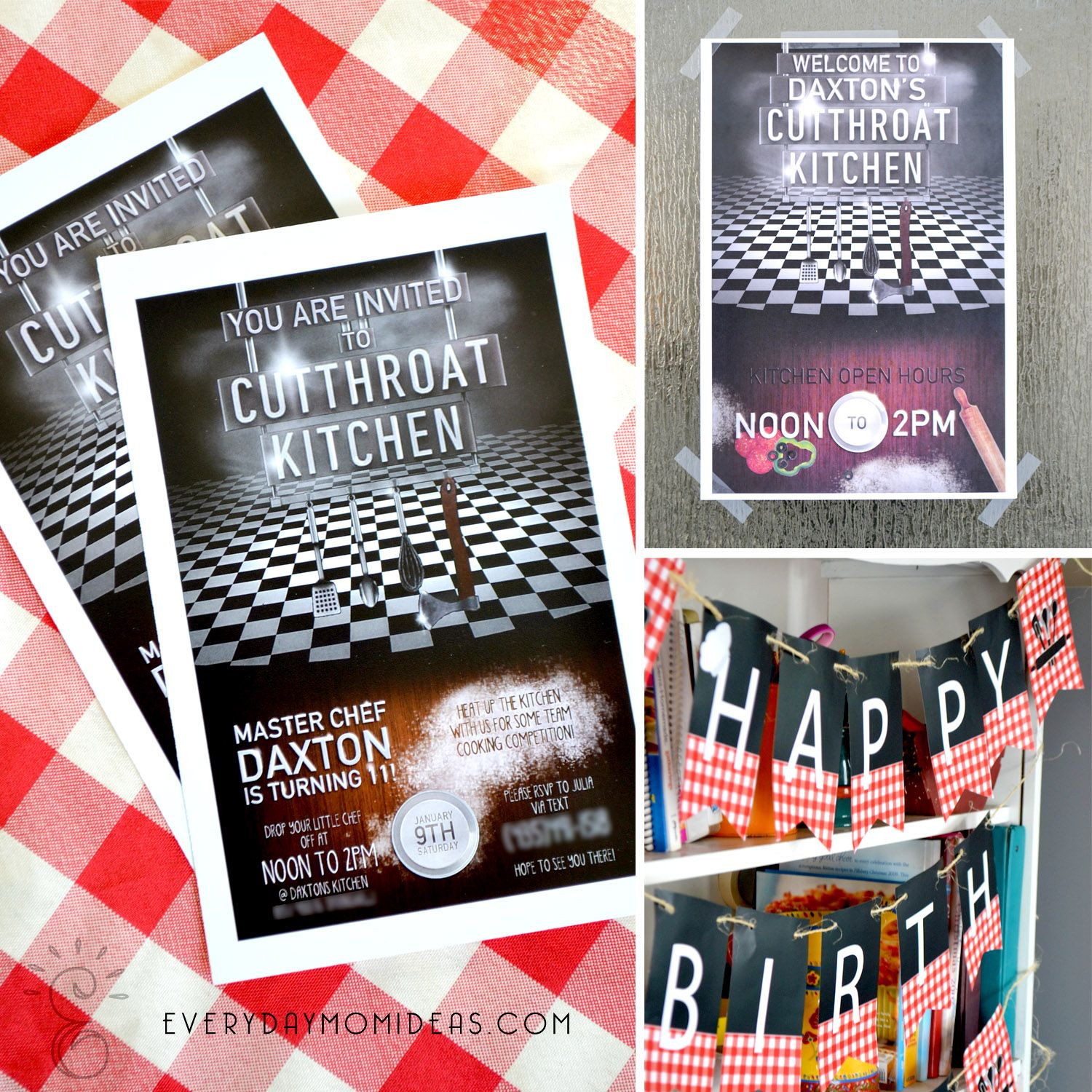 Everyday Mom Ideas Cutthroat Kitchen Birthday Party