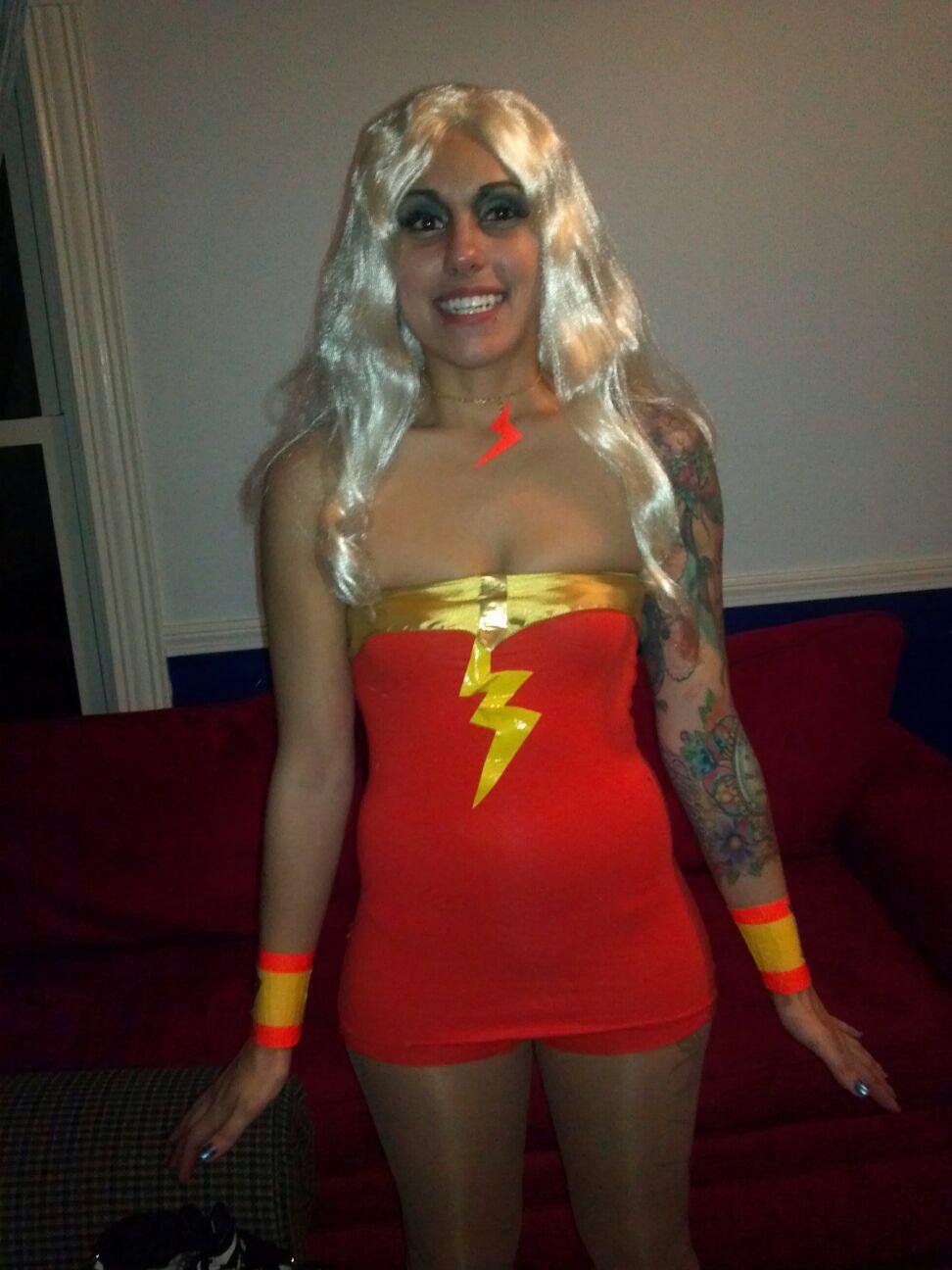 Diy costume thunder girl plastic fantastic b my costume diy costume thunder girl plastic fantastic solutioingenieria Image collections