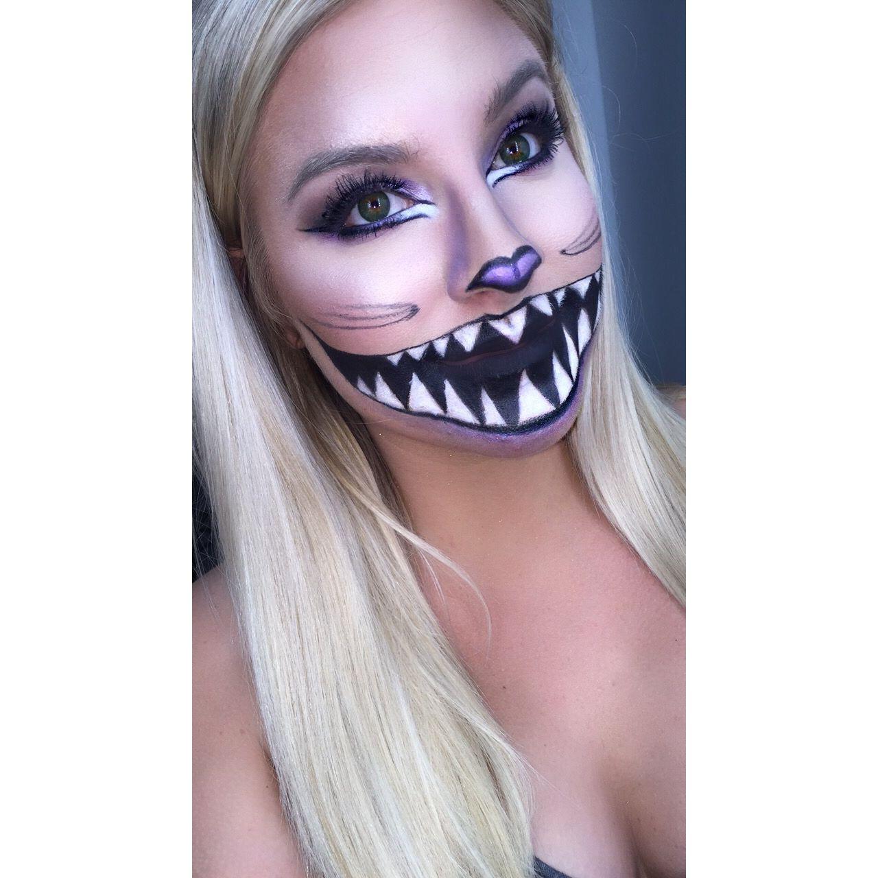 halloween makeup art, cheshire cat from alice in wonderland   all