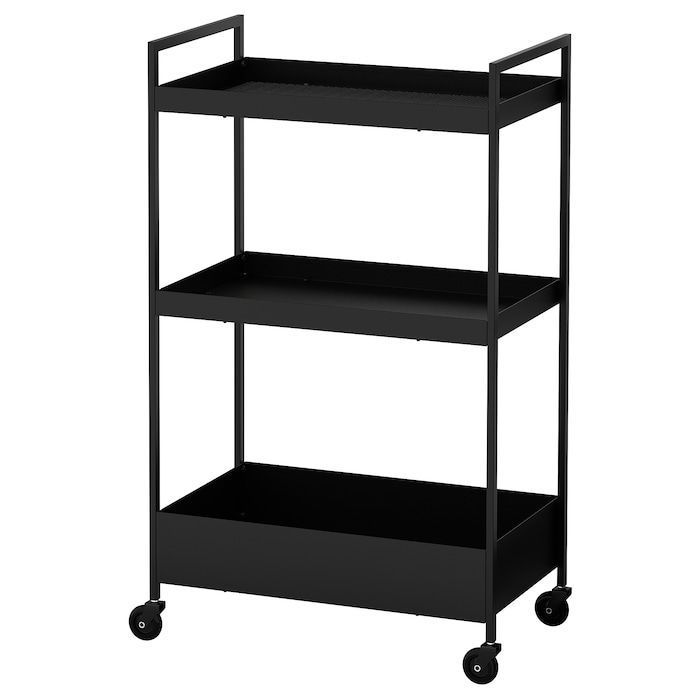 Nissafors Utility Cart Black 19 7 8x11 3 4x32 5 8 Utility Cart Ikea Ikea Kitchen