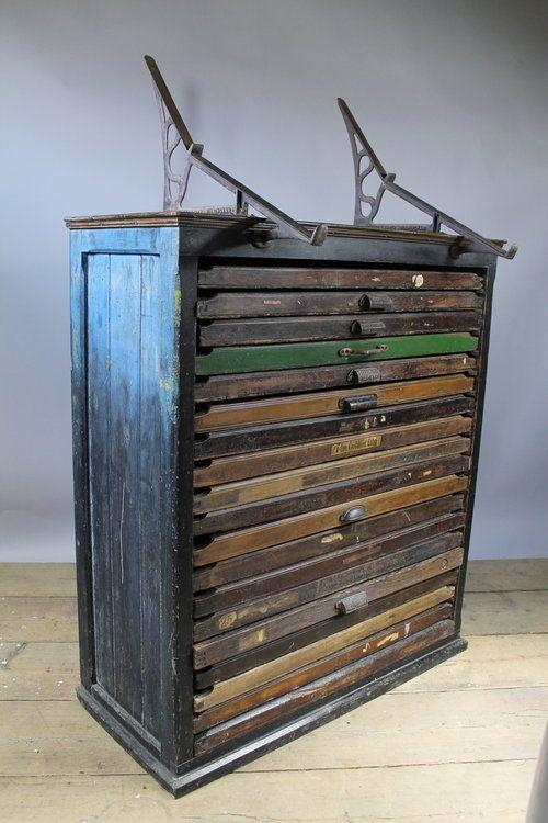 Antique 19th Century Printers Cabinet - Antique 19th Century Printers Cabinet Letterpress Pinterest