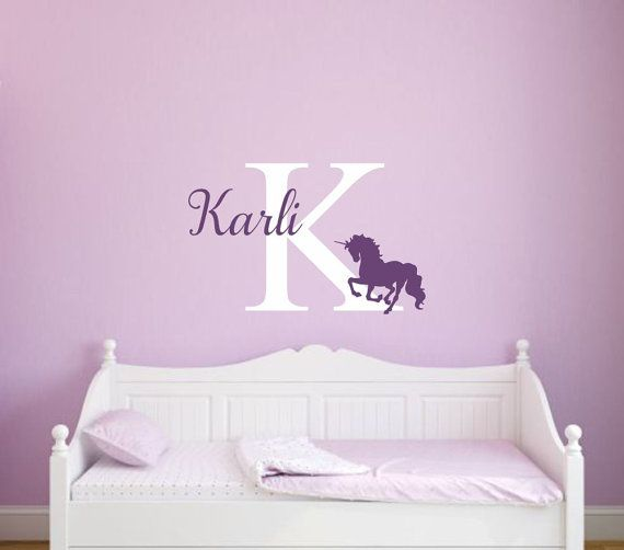 Unicorn Wall Decal Unicorn Vinyl Decal Girl Wall Decal Unicorn -  custom pontoon decals