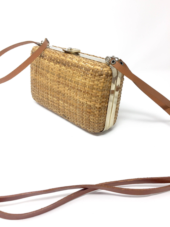 Vintage  pochette  borsa  clutch in  midollino  vimini  paglia  rafia di  aragostavintage su Etsy. Cerca questo Pin e ... 8642a644457