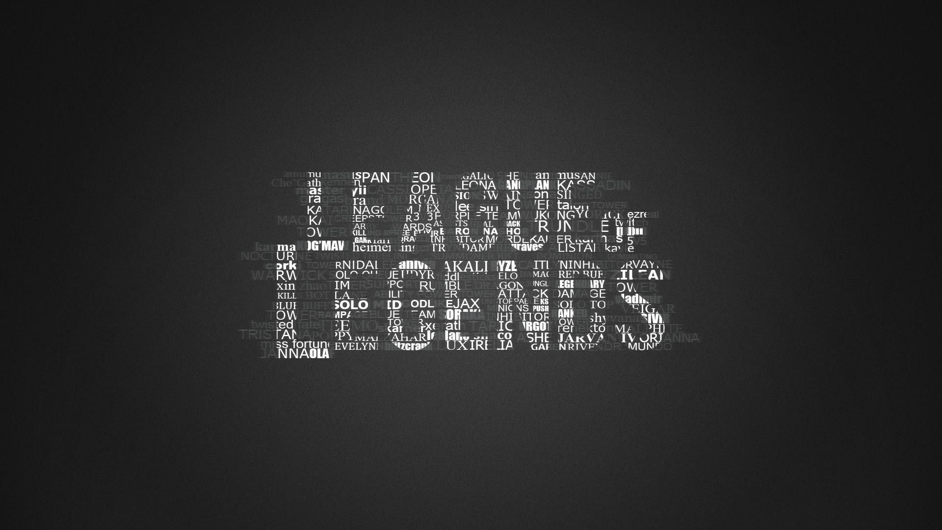 Pics photos pictures league of legends heroes wallpaper hd 1080p jpg - League Of Legends Logo In Typography Wallpaper Theme I Love This
