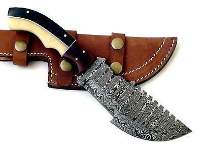 Hand Made Beautiful Damascus Hunting Tracker knife via custom knives. Click on the image to see more!