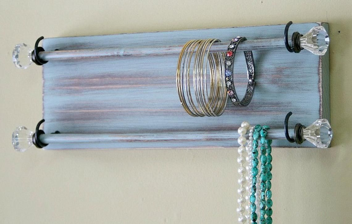 Jewelry Organizer Bracelet Holder Wall Hanging Etsy Diy Bracelet Holder Bracelet Organizer Diy Jewelry Holder