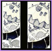 Vintage Apron Sewing Pattern Medium Appliques Hot Iron Transfers