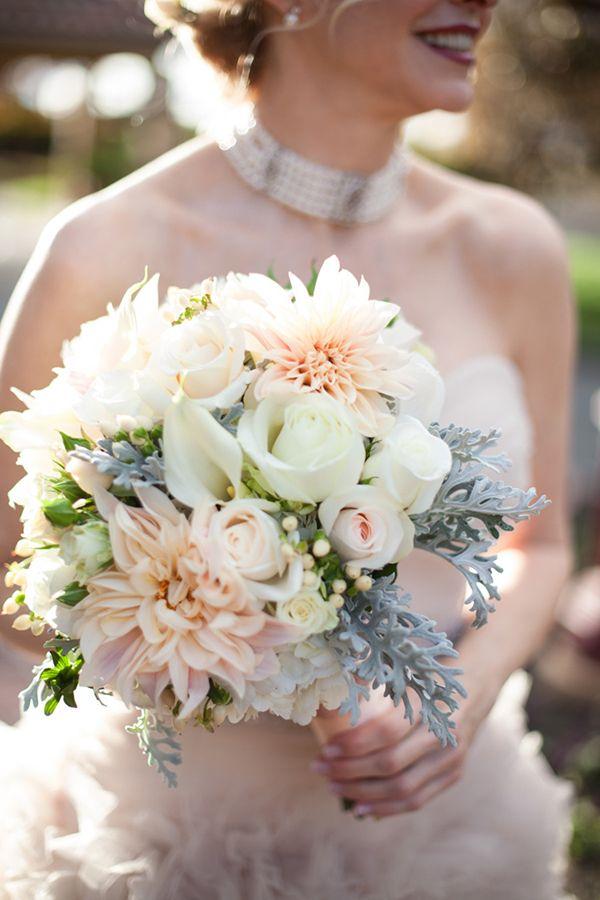 Wedding Wednesday 3 Bridal Bouquets featuring Cafe au Lait