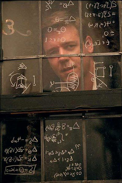 A Beautiful Mind~John Nash... except for the genius part.