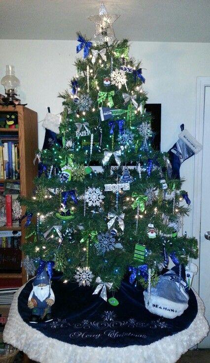 Seahawks Christmas Tree.2013 Seattle Seahawk Christmas Tree Michele Hansen Wurzer S