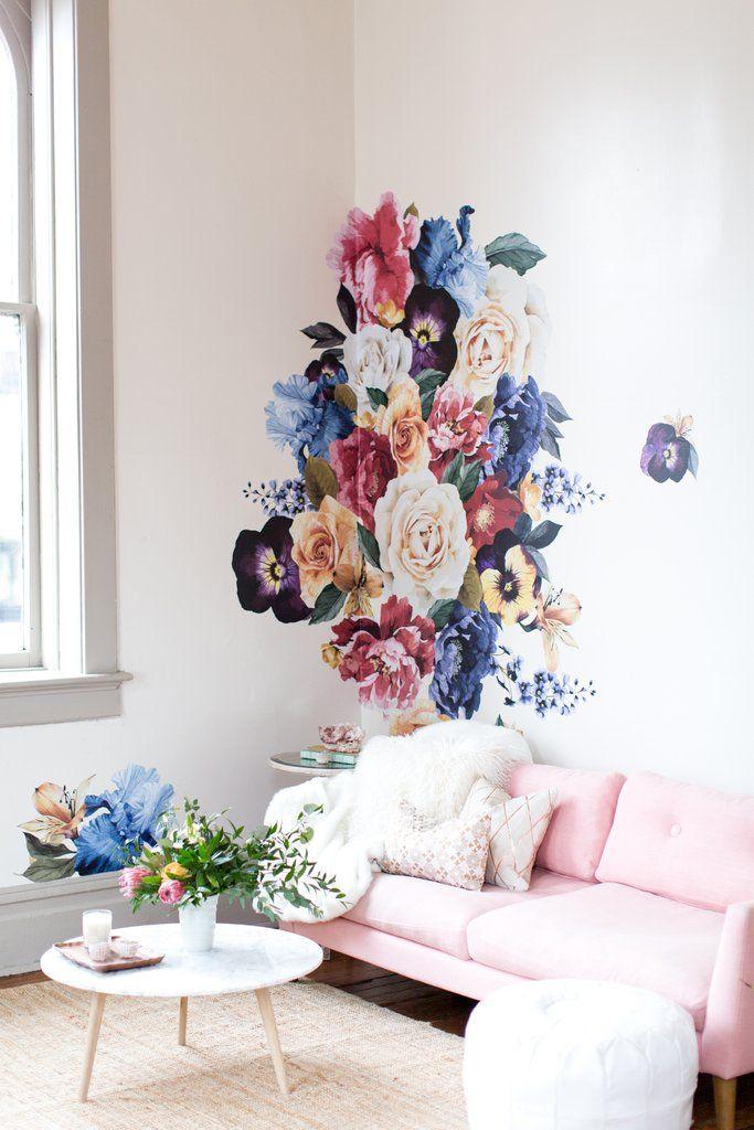 Vintage Floral Wall Decals Decoracion De Pared Decoracion De Unas Y Murales
