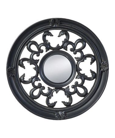 Look what I found on #zulily! Black Decoro Round Mirror #zulilyfinds
