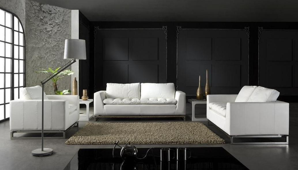 Manhattan Contemporary White Leather Sofa Set White Leather Sofa Set White Leather Sofas Modern White Leather Sofa